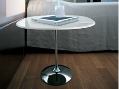 - Round glass coffee table TULIP SHAPED - SOVET ITALIA