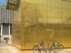 - Metal Perforated and embossed sheet for facade TECU® Design_punch - KME Architectural Solutions