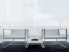 - Upholstered steel armchair ATLANTA | Armchair with armrests - ALIVAR