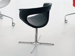- Polyurethane chair VANITY | Chair with 4-spoke base - ALIVAR
