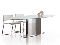 - Oval stainless steel table LOTO | Oval table - ALIVAR