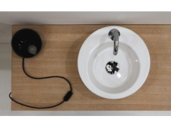 Countertop round ceramic washbasin RING | Ceramic washbasin - GSG Ceramic Design