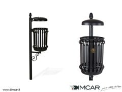 - In-ground outdoor metal waste bin with lid Cestino Barocco con coperchio - DIMCAR