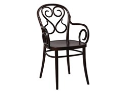 - Wooden chair with armrests N° 4 | Chair with armrests - TON
