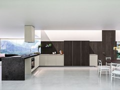 - Wooden fitted kitchen with peninsula WAY | Kitchen with peninsula - Snaidero
