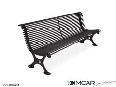 - Classic style metal Bench with back Panchina Antibes - DIMCAR