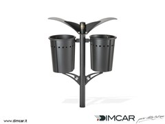 - In-ground outdoor metal waste bin Cestino doppio Pirro - DIMCAR