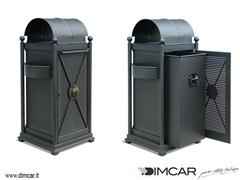 - Outdoor metal waste bin with lid with ashtray Cestone Virgo - DIMCAR