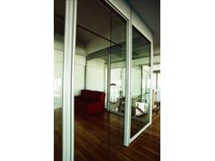 Parete mobile in alluminio e vetro per ufficioParete mobile per ufficio - QUARTIERI LUIGI