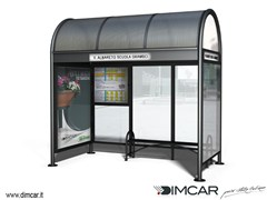 - Steel porch for bus stop Pensilina Modena p.165 - DIMCAR