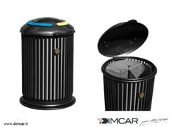 - Outdoor metal waste bin with lid for waste sorting Liberty Maxy - DIMCAR