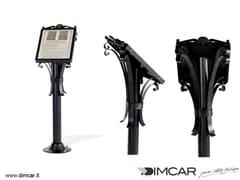 - Galvanized steel information stand Leggio Barocco - DIMCAR