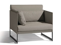 - Sectional garden armchair with armrests SQUAT | Garden armchair with armrests - MANUTTI