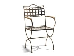 - Wrought iron garden chair with armrests VERSAILLES | Garden chair with armrests - MANUTTI
