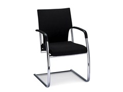 - Cantilever fabric visitor's chair with Armrests DRIVE | Fabric visitor's chair - Brunner