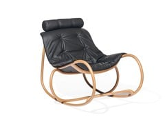 - Rocking leather chair WAVE | Leather chair - TON