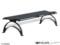 - Classic style backless metal Bench Panca Danea - DIMCAR