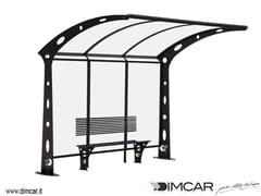 - Metal porch for bus stop Pensilina Acaya a sbalzo - DIMCAR