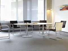 - Oval MDF meeting table SPIRA | Oval meeting table - Brunner