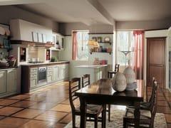- Lacquered cherry wood kitchen IL CANTO DEL FUOCO   Cherry wood kitchen - Martini Mobili