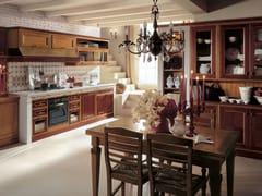 - Linear cherry wood kitchen IL CANTO DEL FUOCO   Cherry wood kitchen - Martini Mobili