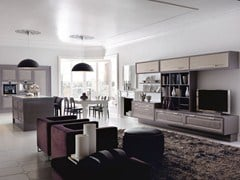 - Lacquered fitted kitchen with island CONVIVIO | Fitted kitchen - Martini Mobili
