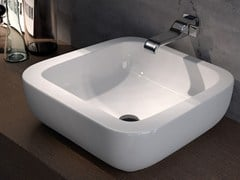 - Countertop ceramic washbasin COMO 51 | Countertop washbasin - CERAMICA FLAMINIA