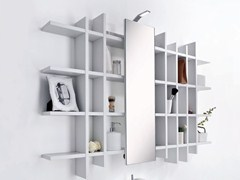 - Open bathroom cabinet with mirror METROPOLIS 6 | Bathroom cabinet - LASA IDEA