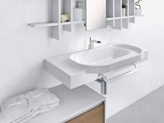 - Wall-mounted washbasin with towel rail METROPOLIS 6 | Washbasin - LASA IDEA
