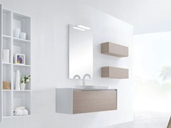 - Single wall-mounted vanity unit METROPOLIS 13 | Vanity unit - LASA IDEA