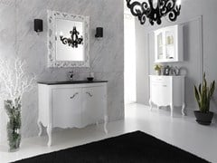 - Lacquered vanity unit with doors NARCISO 1 - LEGNOBAGNO