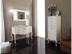 - Lacquered vanity unit with drawers NOVECENTO 3 - LEGNOBAGNO