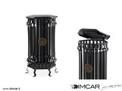 - Outdoor metal waste bin with lid Cestone Barocco con coperchio - DIMCAR