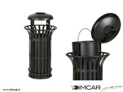 - Waste bin with ashtray Cestone Mida con coperchio e posacenere - DIMCAR