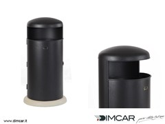- Outdoor metal waste bin with lid Elmo - DIMCAR