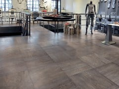 - Porcelain stoneware flooring with wood effect WOOD² - Ceramiche Refin