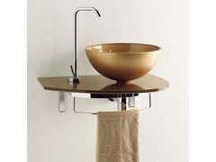 - Wall-mounted washbasin with towel rail UNIK 3 - LASA IDEA