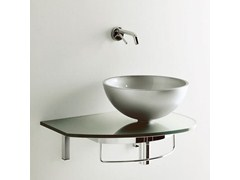 - Wall-mounted washbasin with towel rail UNIK 4 - LASA IDEA