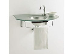 - Wall-mounted washbasin with towel rail UNIK 5 - LASA IDEA