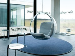 - Solid-color round polyamide rug PEARL 1310 - OBJECT CARPET GmbH
