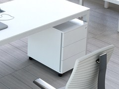 - Wooden office drawer unit with casters IMPULS | Office drawer unit - MDD