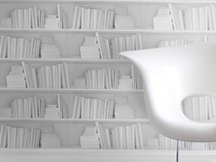 - Wallpaper WHITE BOOKSHELF - Mineheart
