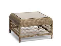 - Square aluminium garden side table MALIBU | Garden side table - MANUTTI