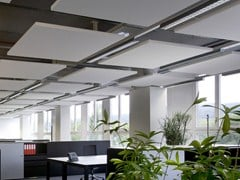 - Glass wool acoustic ceiling clouds Ecophon Solo™ Square - Saint-Gobain ECOPHON