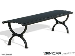 - Classic style backless metal Bench Panca Lory - DIMCAR