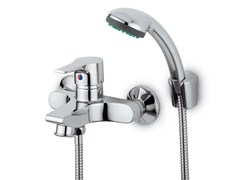 - 2 hole shower mixer with hand shower FLAT | Shower mixer with hand shower - ZUCCHETTI