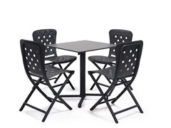 - Contemporary style drop-leaf stackable contract table SCUDO - Nardi