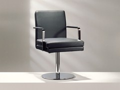 - Swivel upholstered leather chair with armrests D13-23 | Chair with armrests - Hülsta-Werke Hüls
