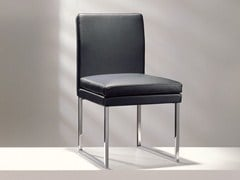 - Sled base upholstered leather chair D13-11 | Sled base chair - Hülsta-Werke Hüls