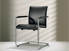 - Cantilever leather chair with armrests D2-2 | Chair with armrests - Hülsta-Werke Hüls